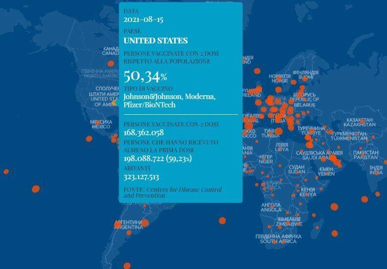 Дані щодо вакцинації в США