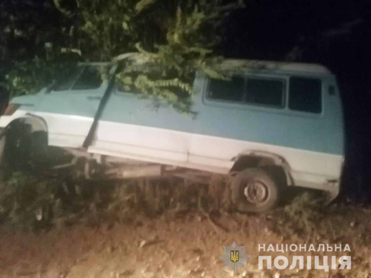 Mercedes, которым управлял пьяный водитель, врезался в дерево