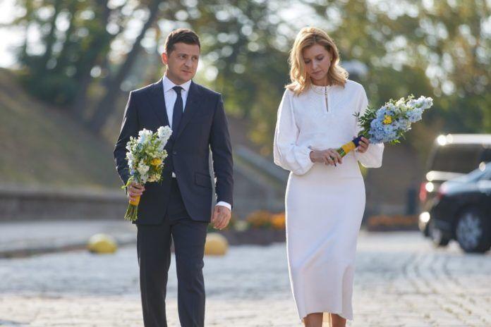 Зеленська зі своїм чоловіком Володимиром у 2020 році