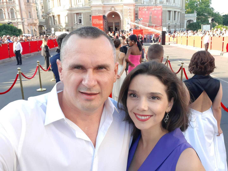 Олег Сенцов на 12-му Одеському кінофестивалі.