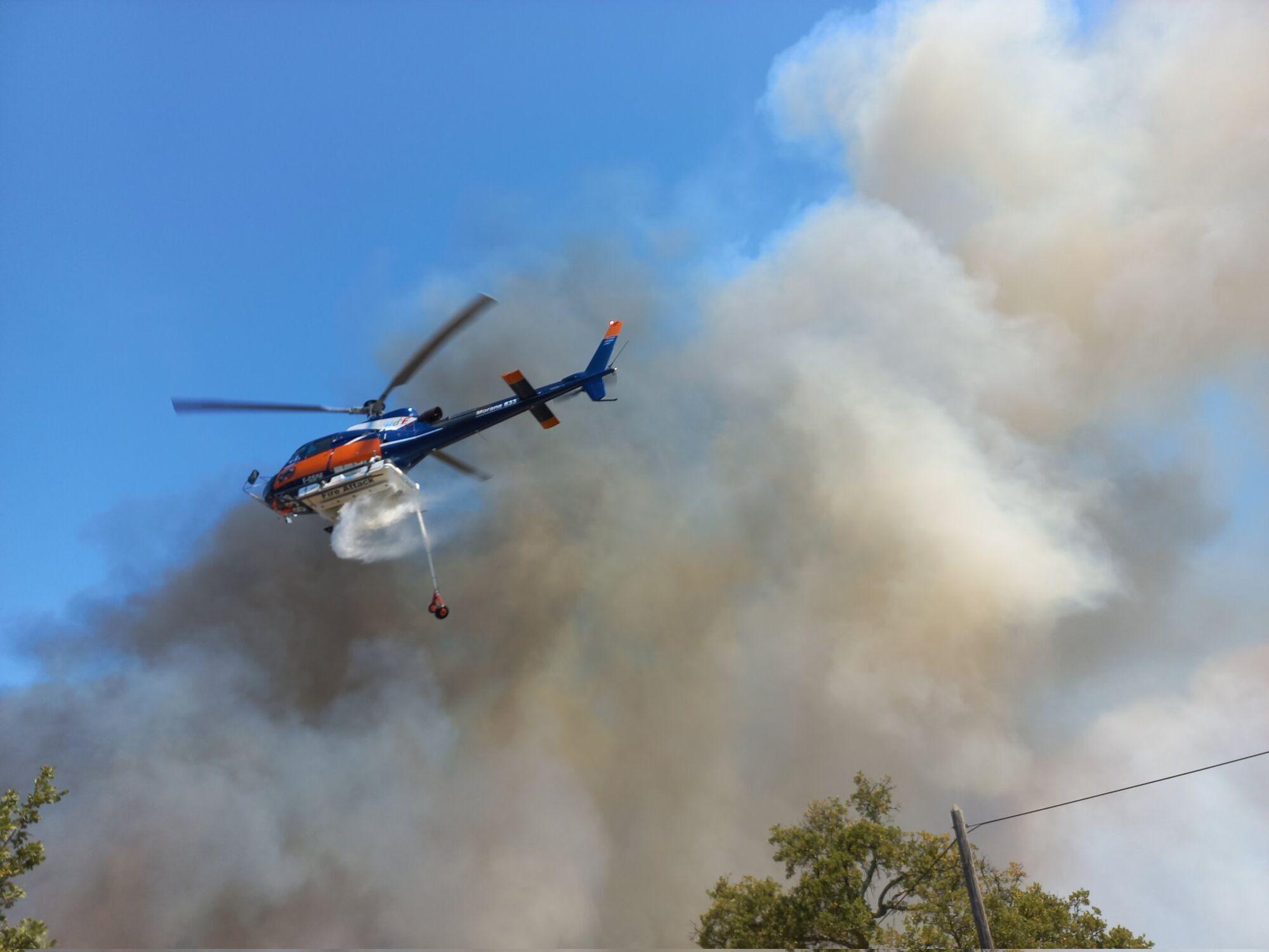 Лісові пожежі не вщухають у департаменті Вар