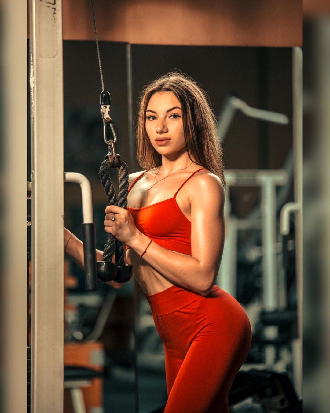 Вікторія Черненко на тренуванні