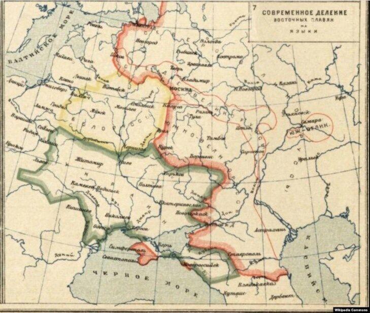 На мапі подані дані про українське населення Кубані у відсотках до всього населення Кубані за переписом 1926 року. Атлас К. Кудряшова. Москва, 1928 рік