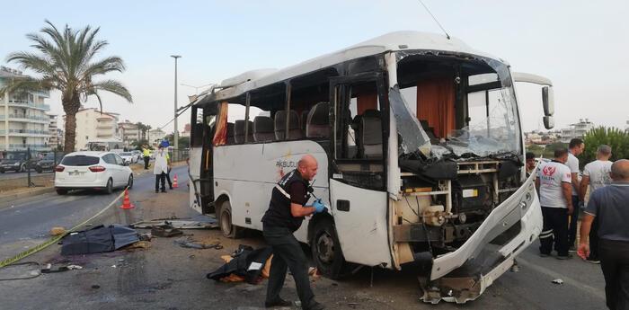 Автобус перевозил российских туристов.