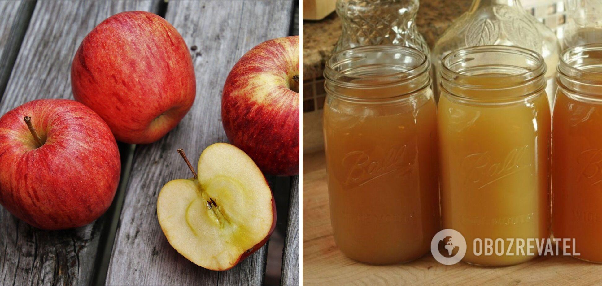 Как сварить дома вкусный яблочный сок