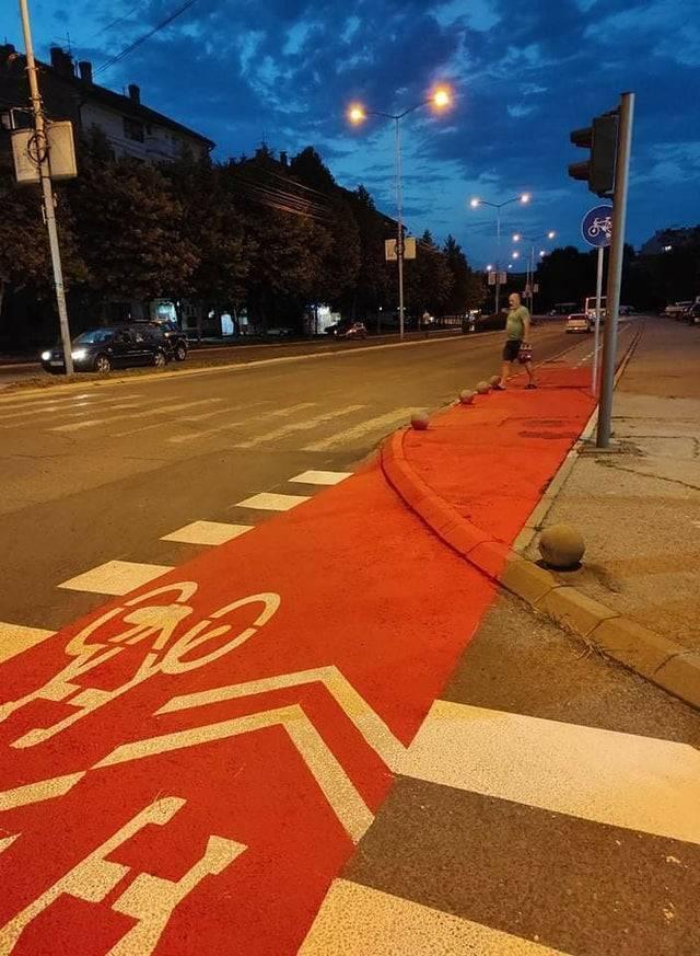 Сюрприз для велосипедистов.
