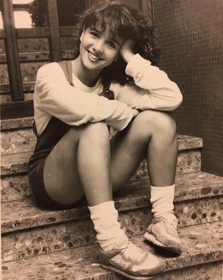 Наталия Орейро в 15 лет.