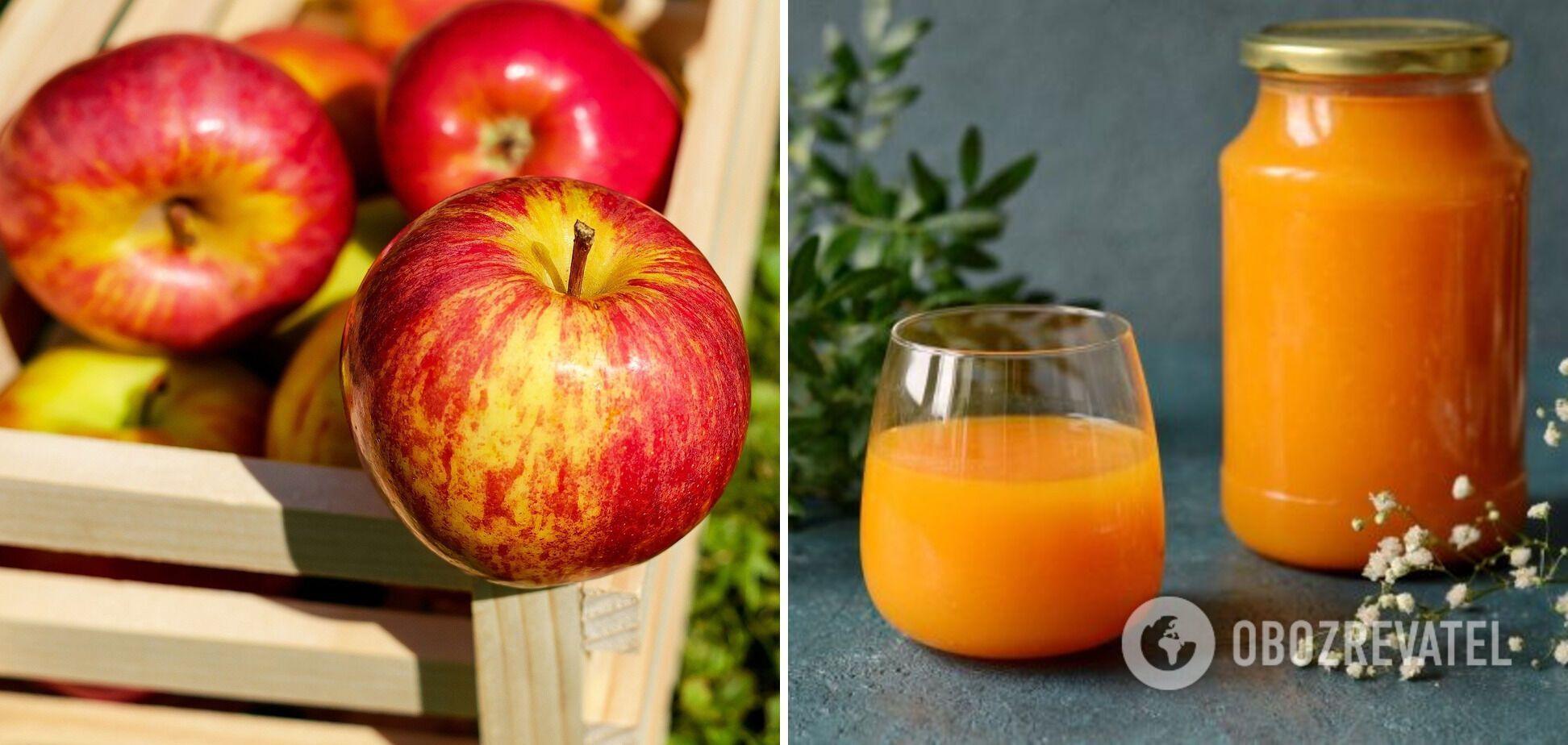 Домашний яблочный сок с мякотью