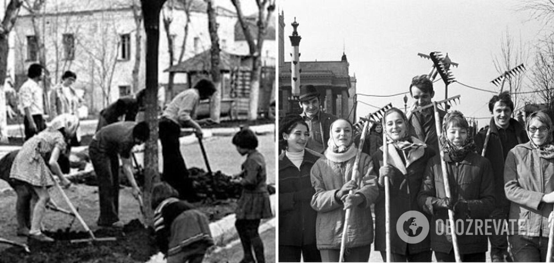 Усі громадяни СРСР змушені йти на суботники