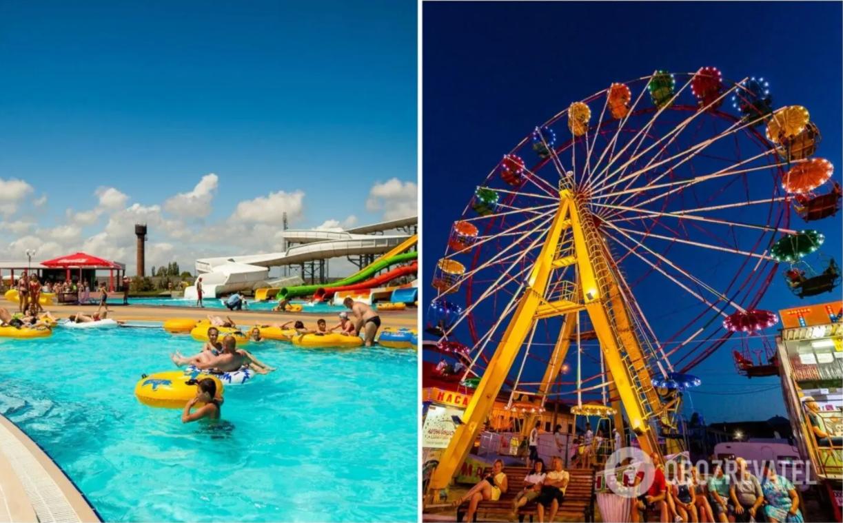 У Кирилівці є набережна з Луна-парком, аквапарк, дельфінарій, кінний цирк, сафарі-парк та інші розваги для дітей і дорослих.