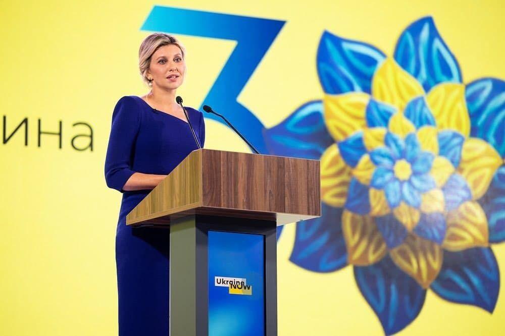 Первая леди Украины Елена Зеленская.