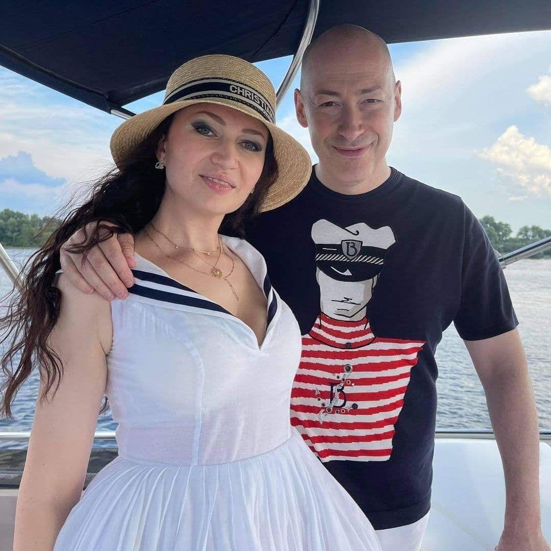 Дмитро Гордон зі своєю дружиною.