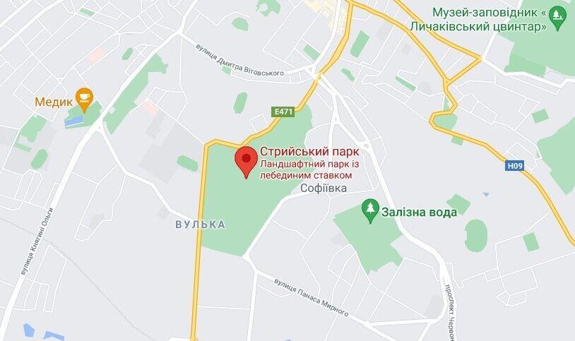ЧП произошло в Стрыйском парке