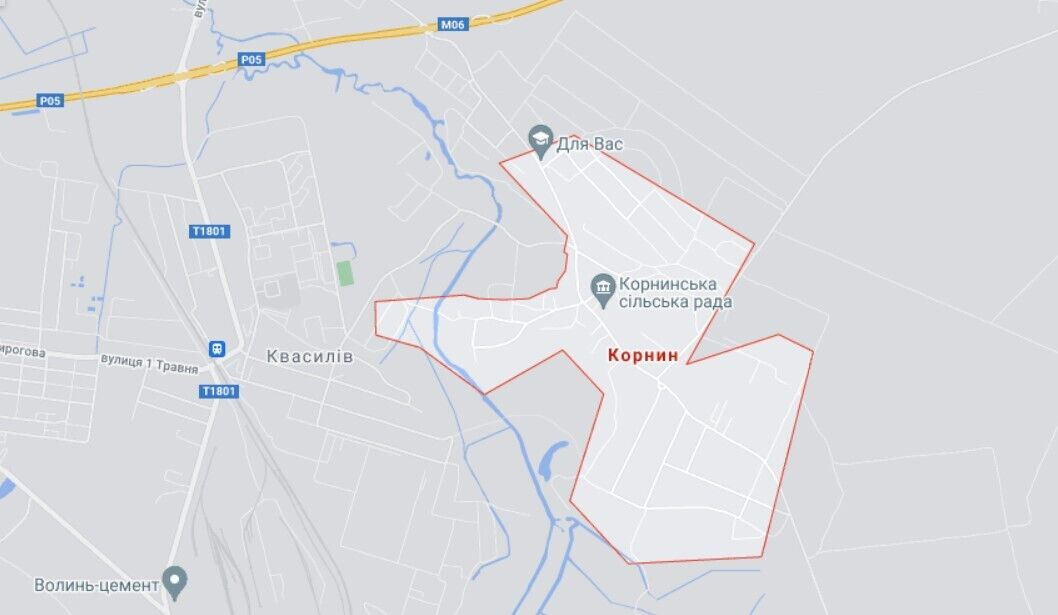 Аварія трапилася біля села Корнин