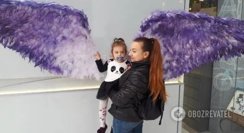 Ольга Калініна з донькою