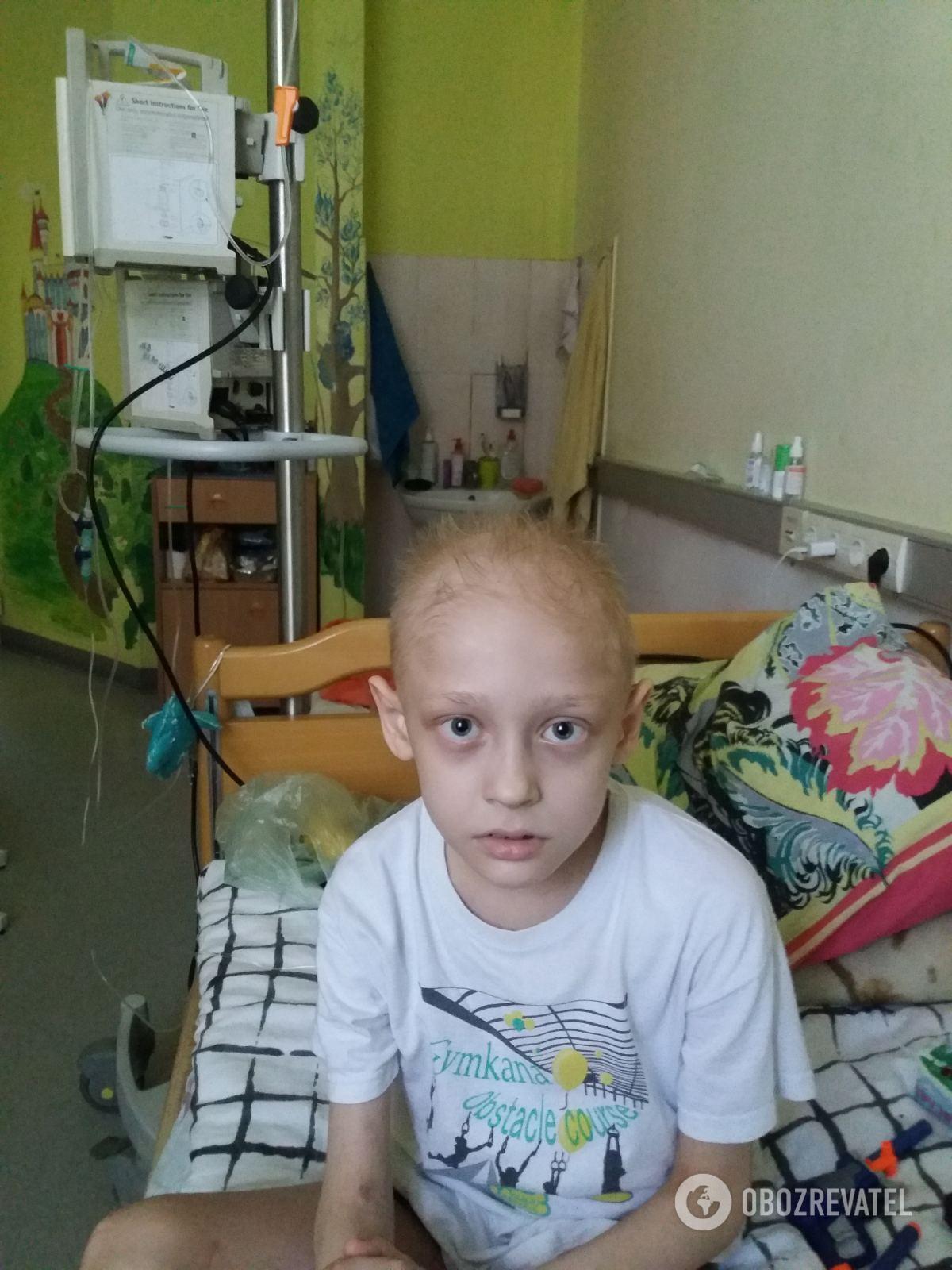 Сейчас ребенку прокапали 8 курсов химиотерапии