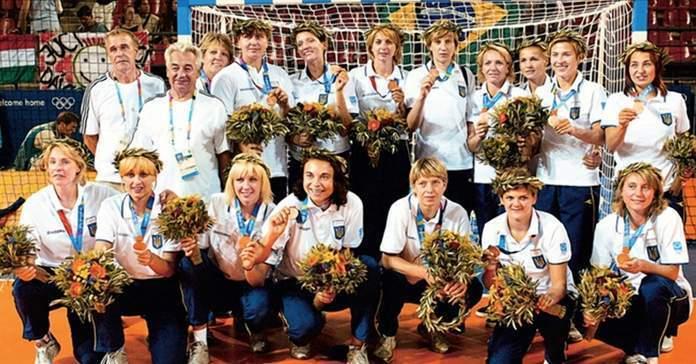 Сборная Украины по гандболу призер Олимпиады-2004.