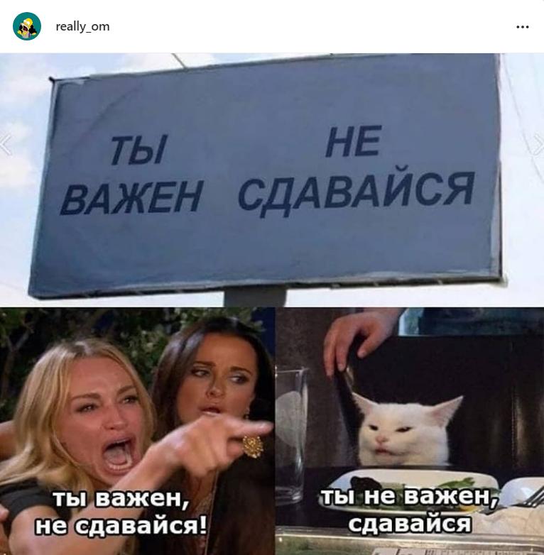 Мем с игрой слов