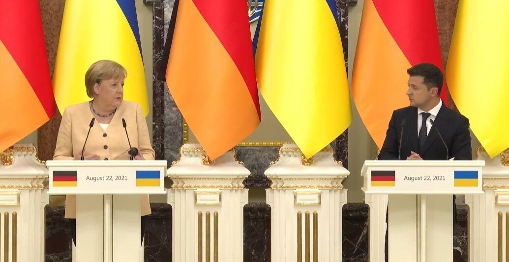 Меркель та Зеленський.