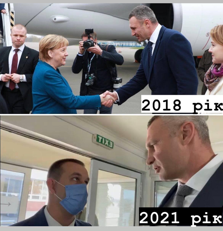 Цього року мера Києва не пустили зустрічати Меркель.