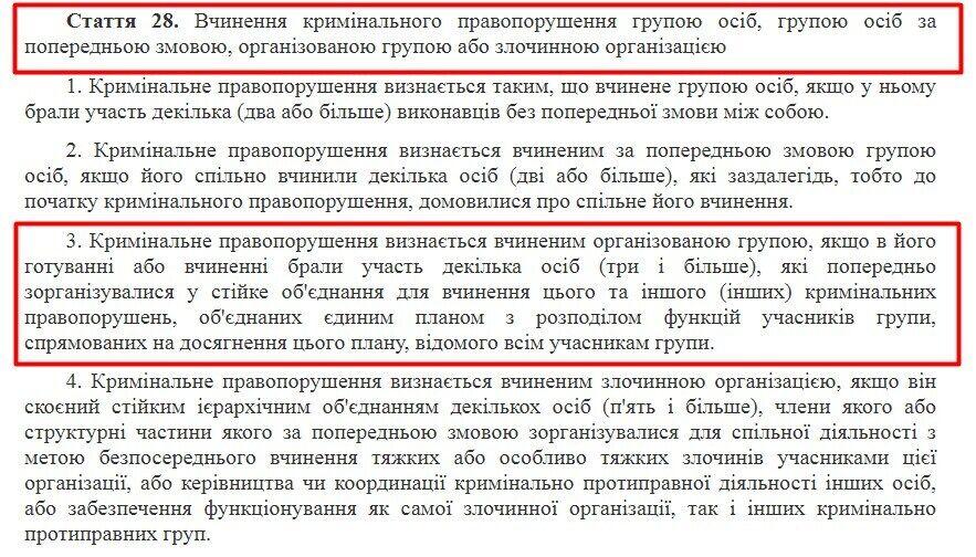 Стаття 28 КК України