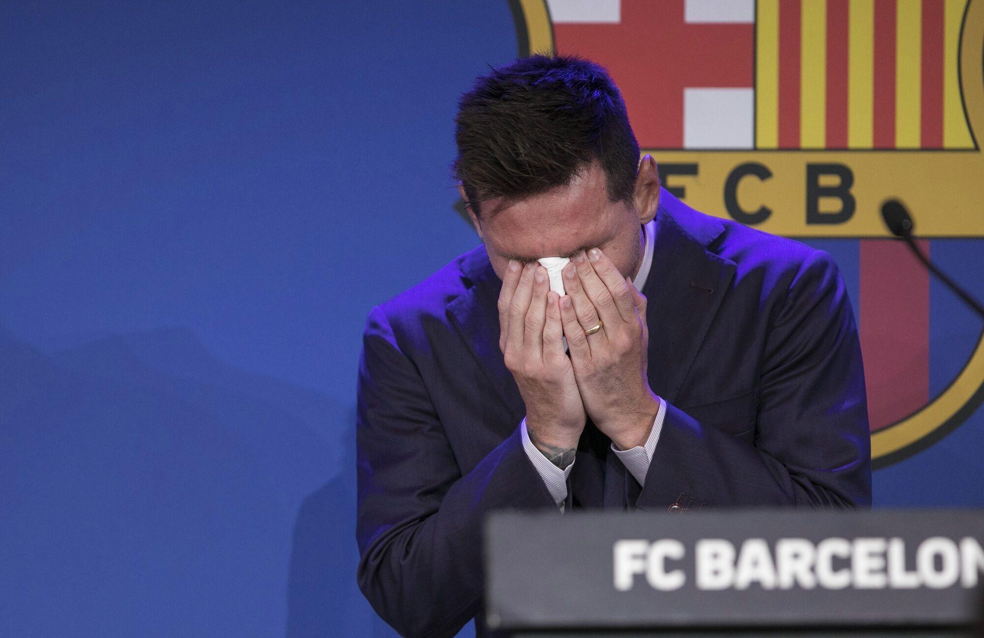 Месси разрыдался на пресс-конференции