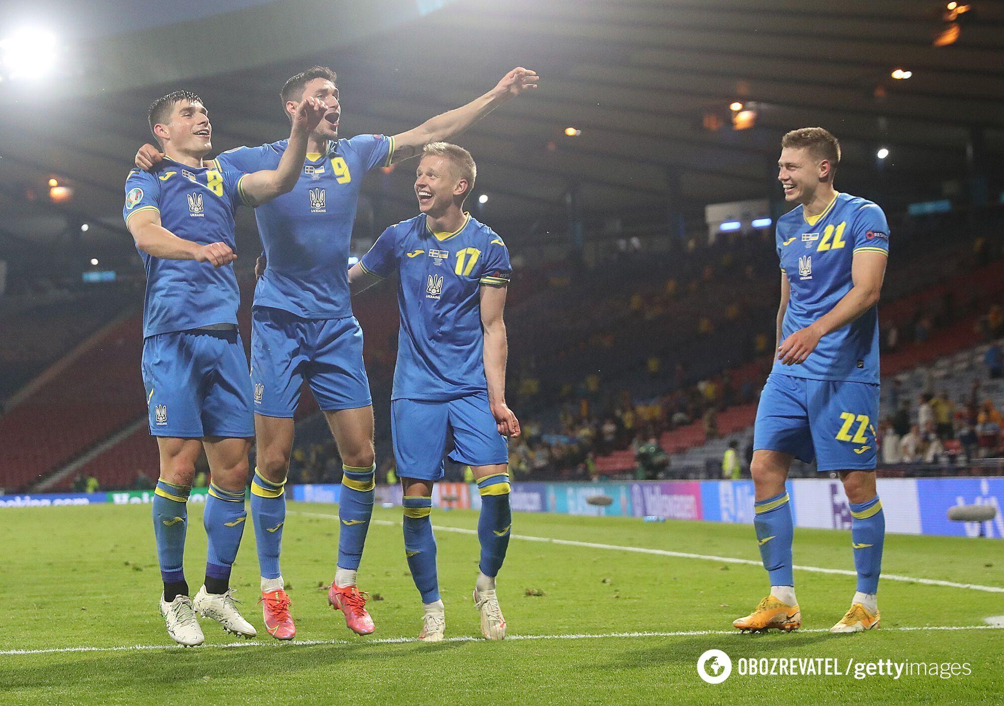 Сборная Украины по футболу на Евро-2020.
