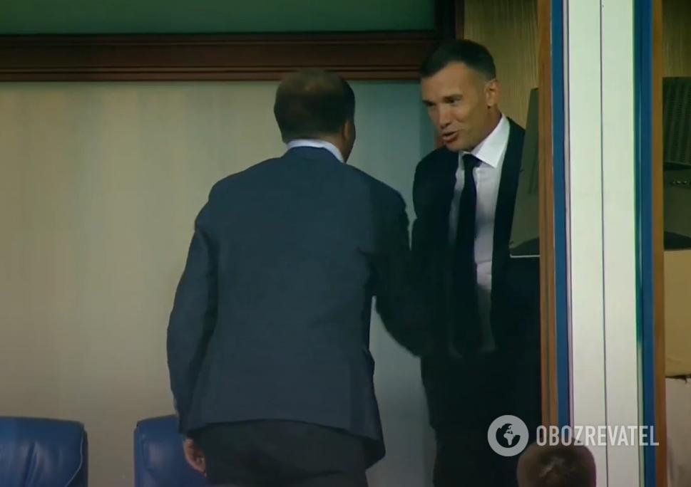 Шевченко привітав Петракова.