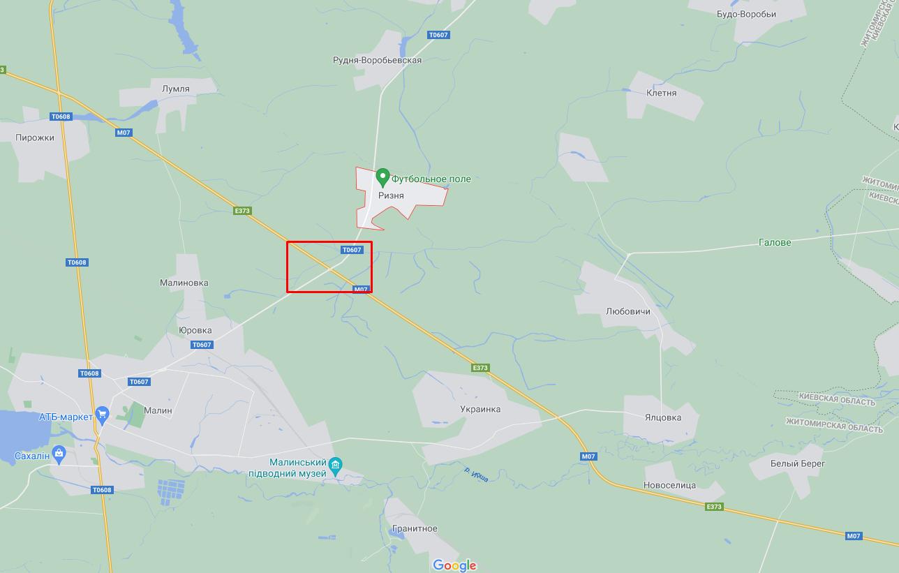 ДТП случилось возле села Ризня.