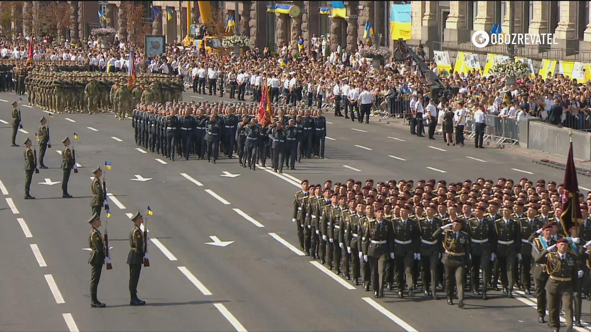 Військовий парад у Києві.