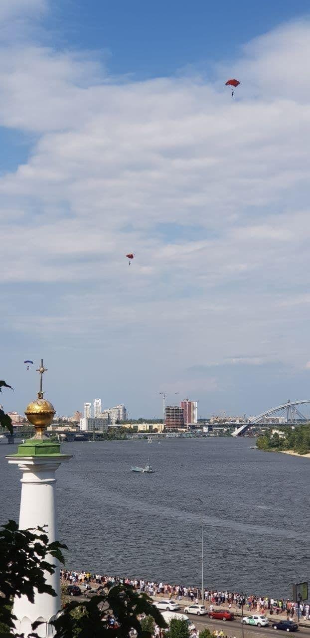 Річковий парад у Києві.