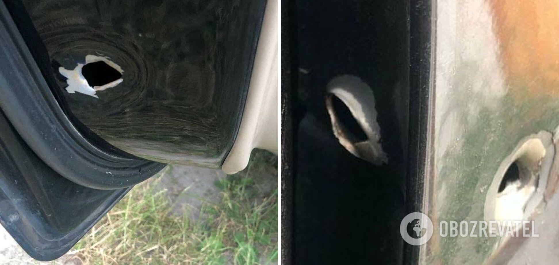 Автомобіль, який на Позняках обстріляли співробітники СБУ