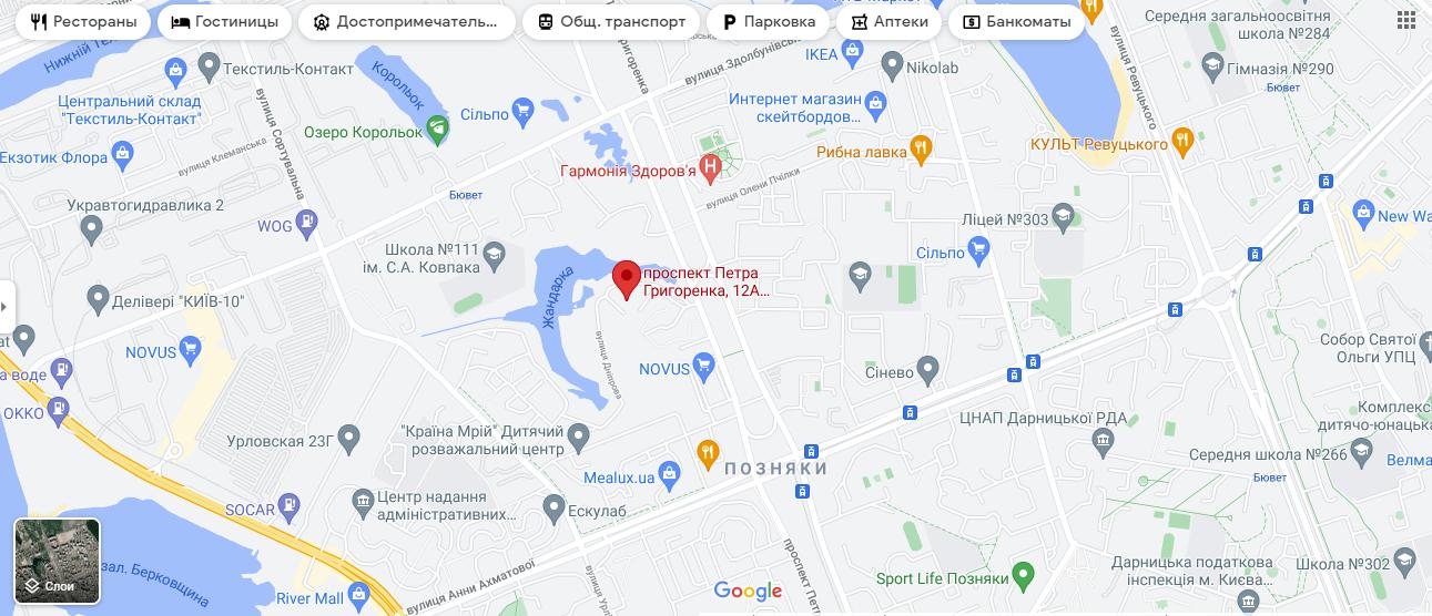Место ЧП на карте