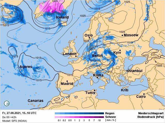 В Україну прямують холодні атмосферні фронти.