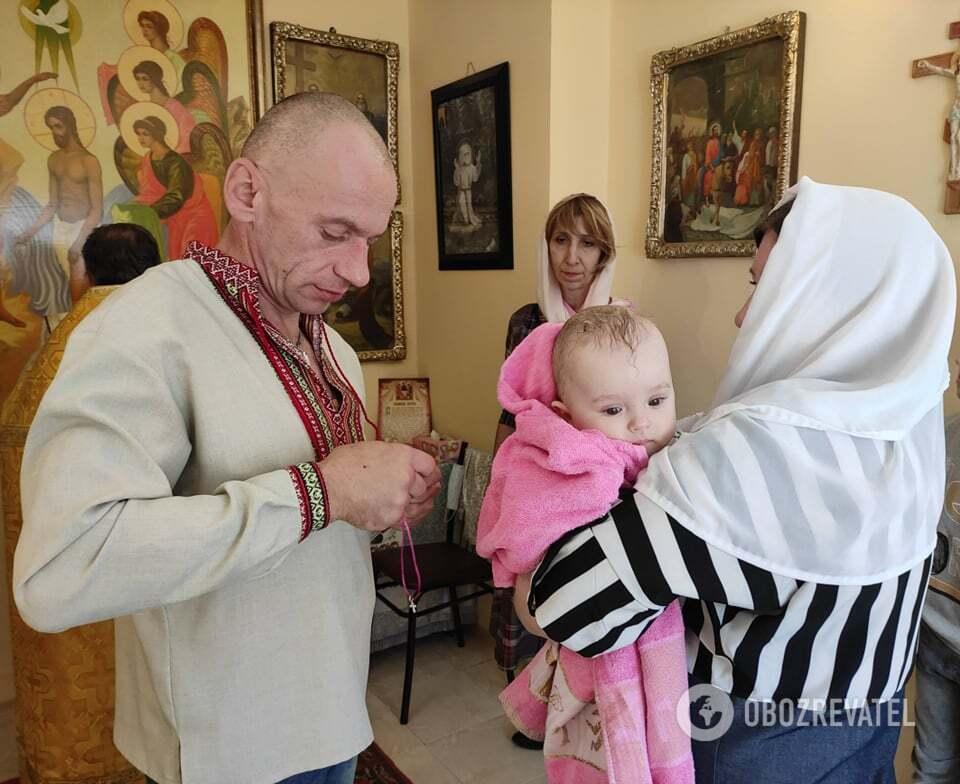 В'ячеслав хрестив доньку Олександра і Тетяни
