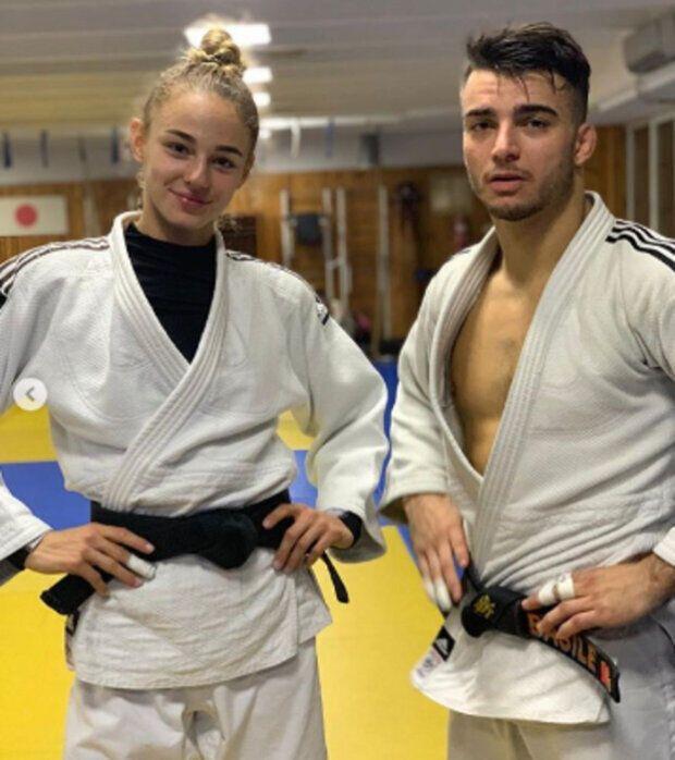 Дарья Белодед и Фабио Базиле на тренировке