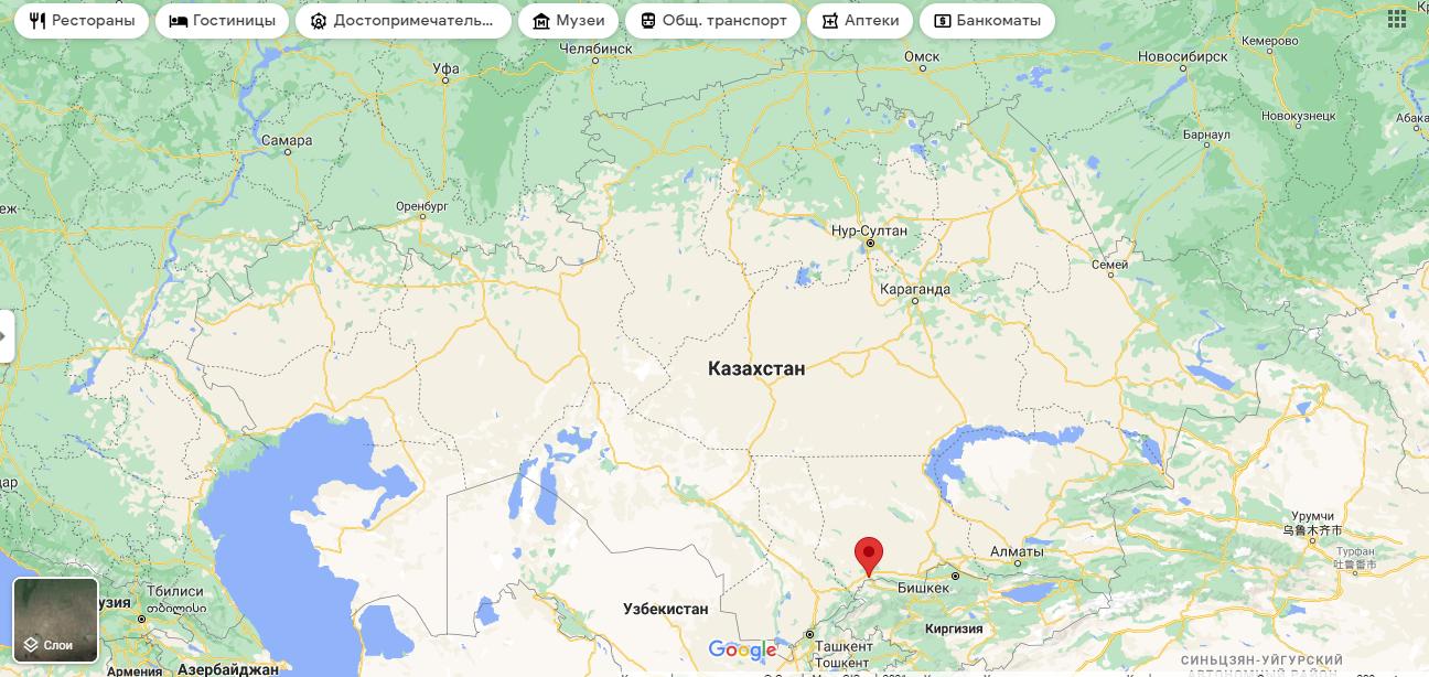 Тараз розташований на півдні Казахстану, біля кордону з Киргизстаном