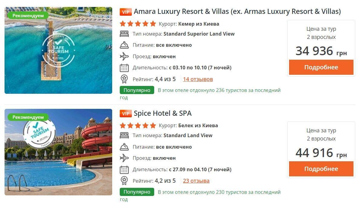 Люксовый отдых в Турции начинается от 35 тысяч гривен