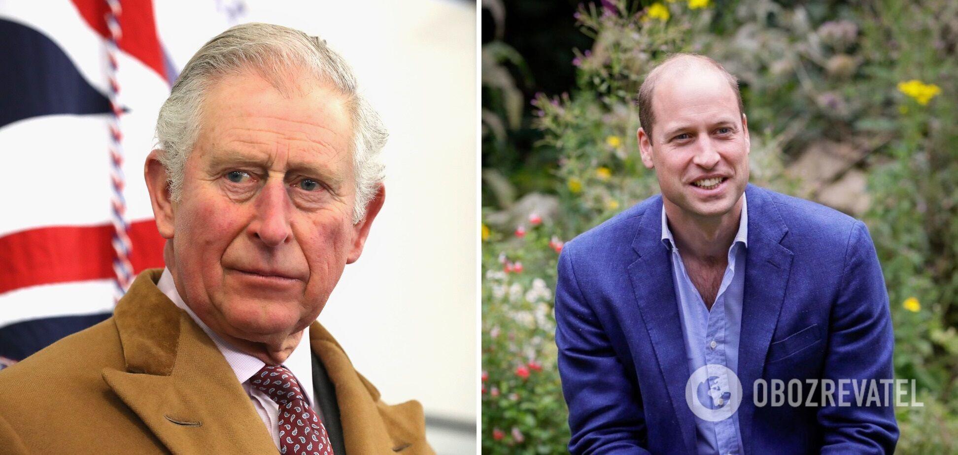 Принц Чарльз и его старший сын Уильям.