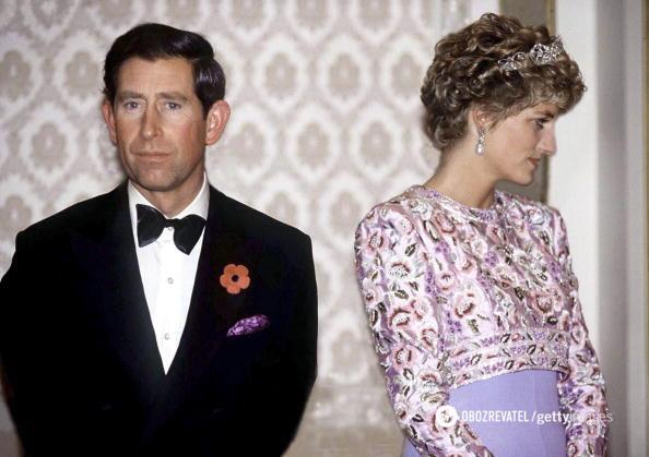 Принцесса Диана и принц Чарльз.