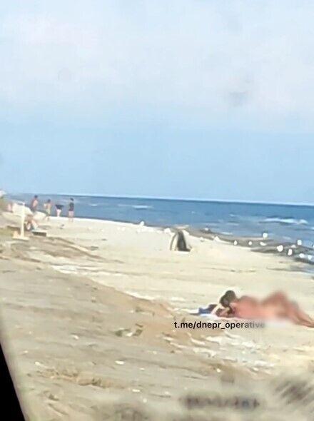 Пара зайнялася сексом на пляжі.