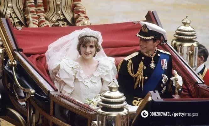 Свадьба принца Чарльза и леди Дианы.