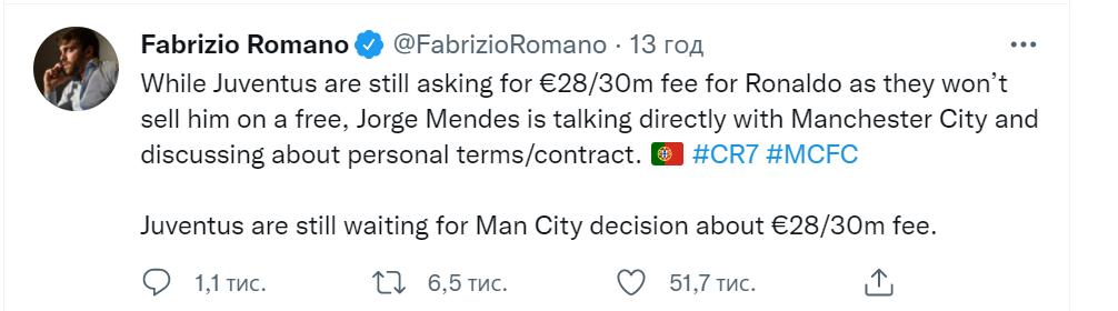 """""""Ювентус"""" хочет заработать на трансфере Роналду"""