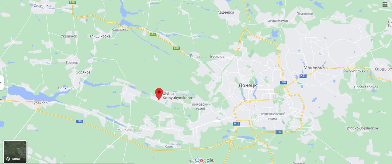 Старомихайловка находится недалеко от Донецка