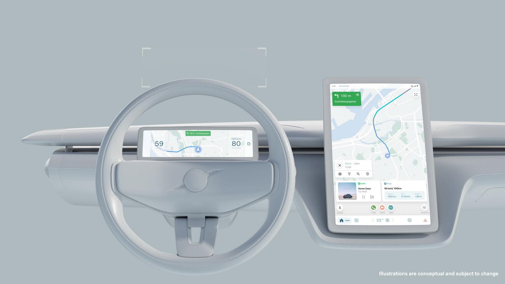 У найближчому майбутньому автомобілі Volvo отримають великий сенсорний екран