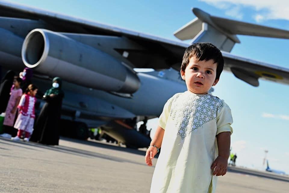 Ребенок, который прилетел в Украину