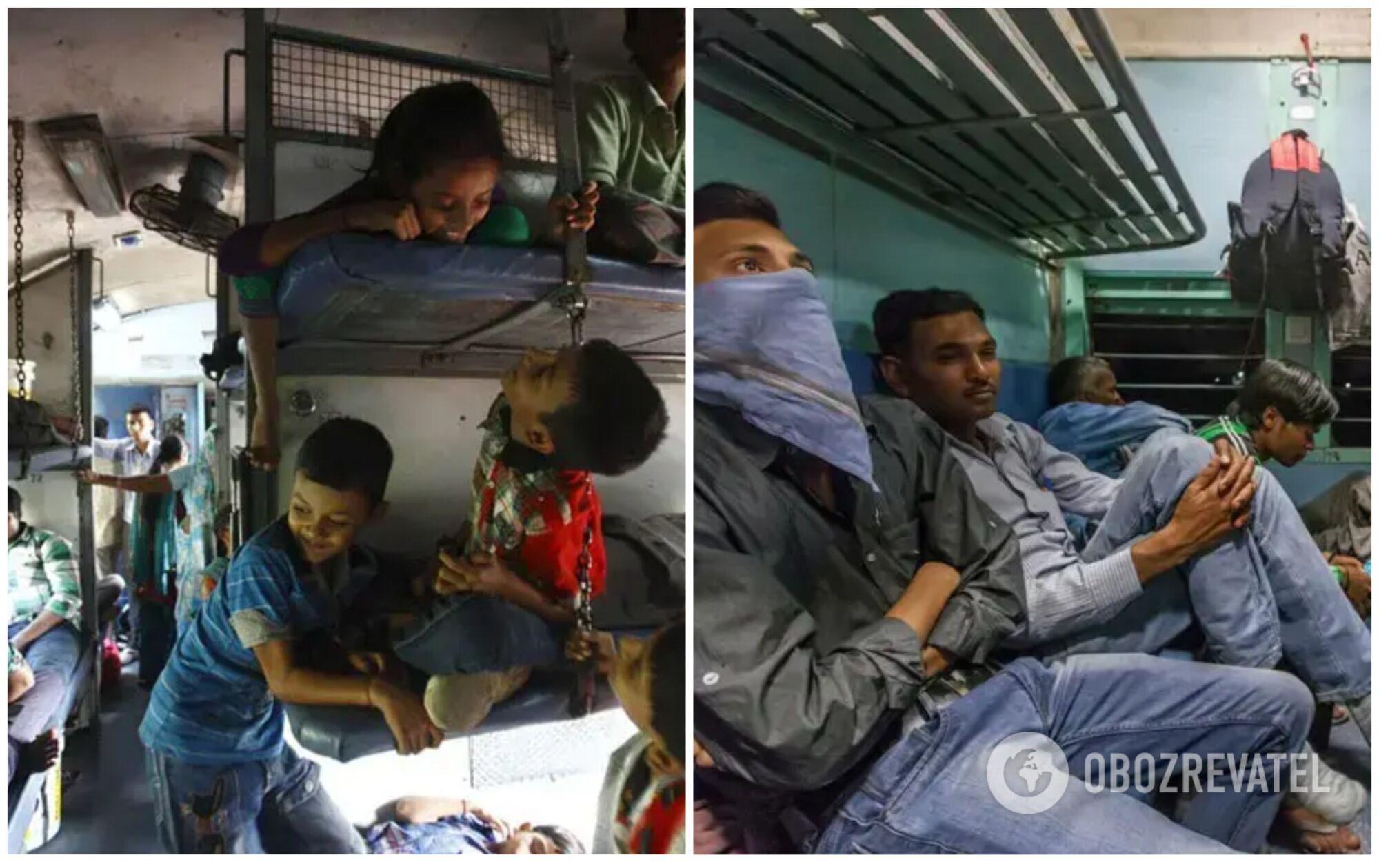 Індійський плацкарт викличе шок навіть в українців, які звикли до забитих вагонів у 30-градусну спеку
