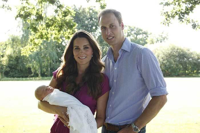 Уильям и Кейт с принцем Джорджем.