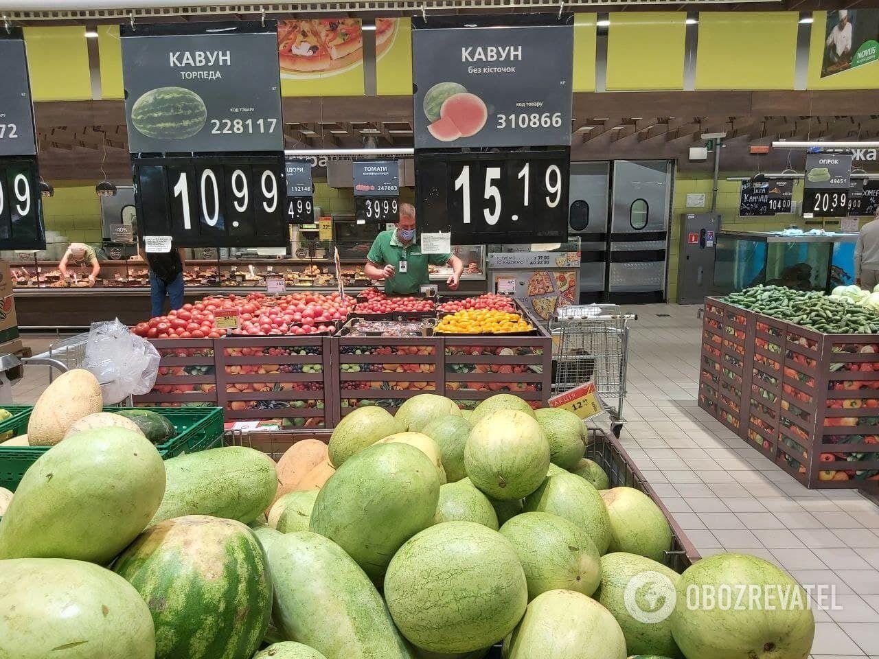 Цена арбуза зависит от сорта.