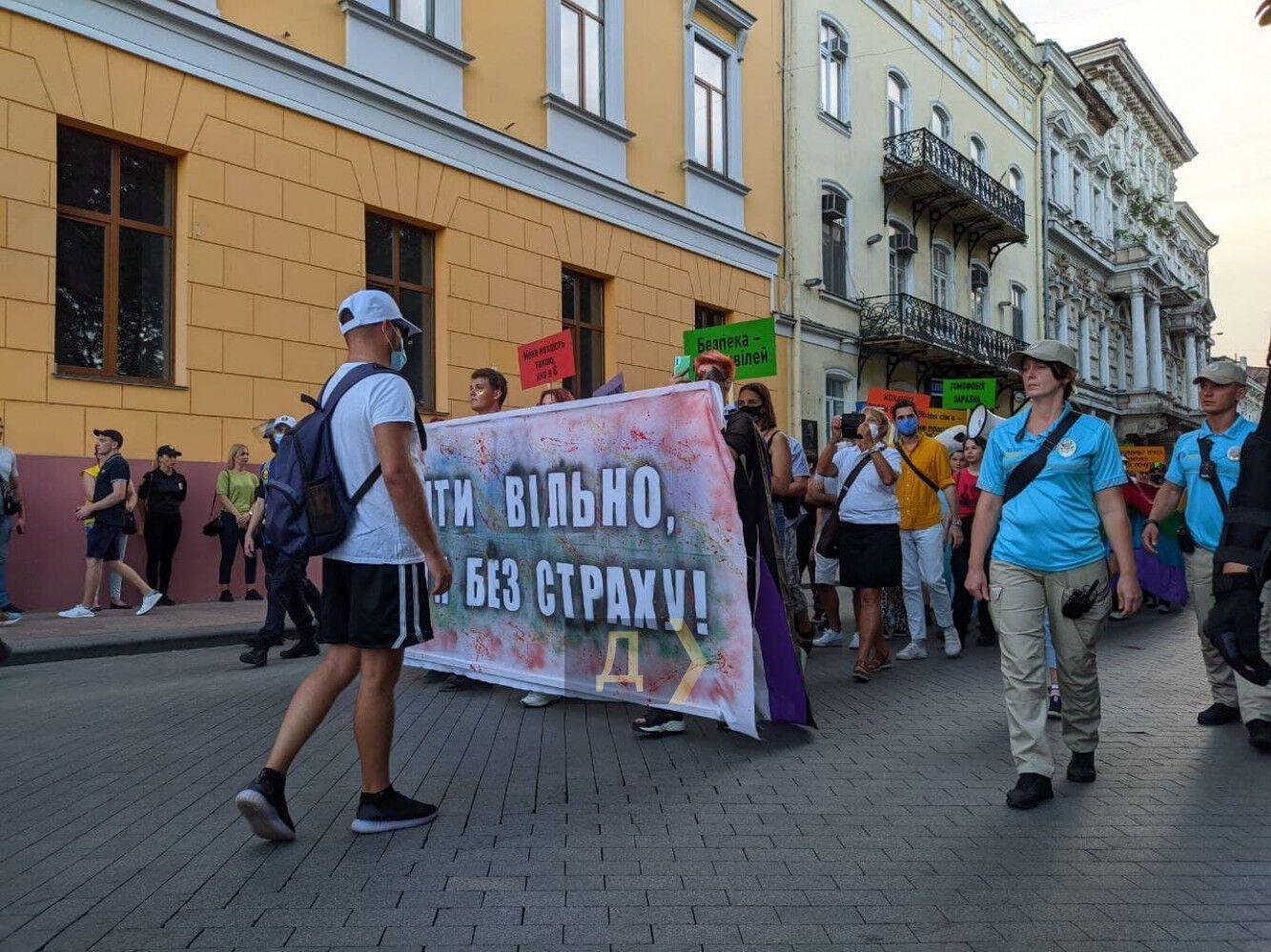 Марш ЛГБТ в Одессе закончился столкновениями и задержаниями. Фото и видео